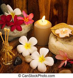 spa, extérieur, monture, masage