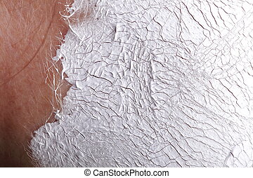 Facial Mask - part of face. Background texture