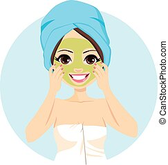 Spa Facial Mask Treatment
