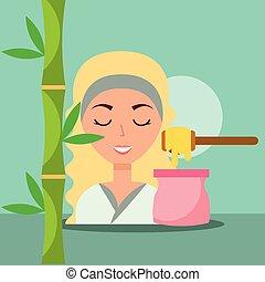 spa, femme, wellness