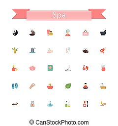 Spa Flat Icons