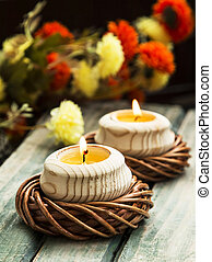Spa Floating Burning Candles