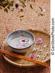 spa, floral, composição