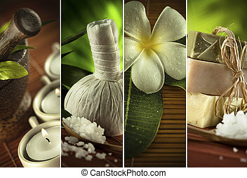 spa four - Spa theme collage composed of a few images