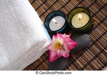 spa, gegenstände, aromatisch