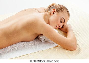 spa, girl, salon