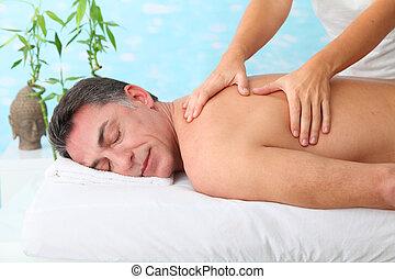 spa, homme, centre, masage, avoir
