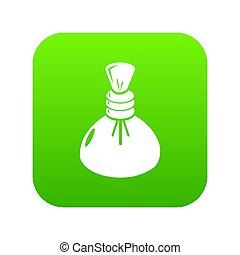 Spa hot compress icon green