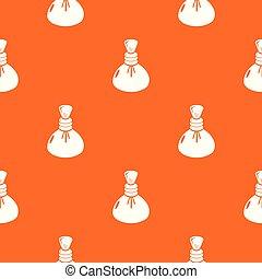 Spa hot compress pattern vector orange
