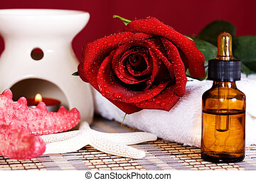 spa, huile, aromatique