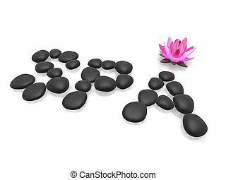 spa illustration - 3d rendered illustration of a lotus...