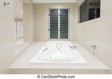 Spa in modern home
