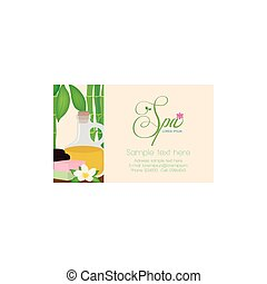 Spa - Isolated spa business card with some spa objects, a...
