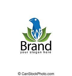 Spa logo design with eagle symbol. Vector Illustration on white background
