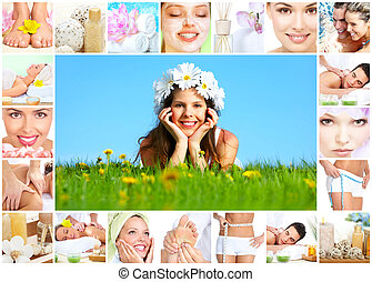 spa, masage, collage.
