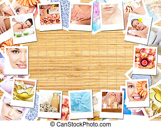 Spa massage background.
