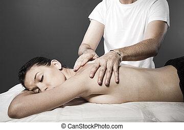 Spa massage for beautiful pretty woman - Beauty treatment therapy