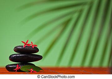 Spa & massage still life of balancing stones