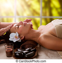 spa, massagem facial