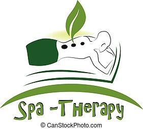 spa, massagem, logotipo