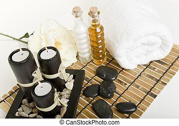 spa, &, masseren, producten