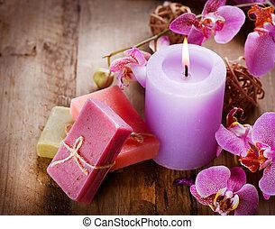 spa, met de hand gemaakt, natuurlijke , zeep