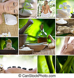 spa mix - Spa theme photo collage composed of different ...
