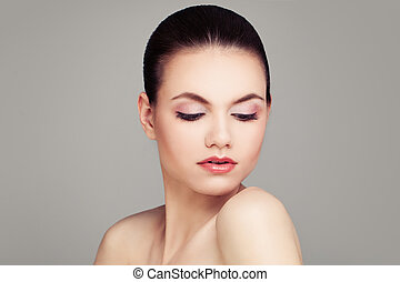 Spa Model with Healthy Skin. Woman Face