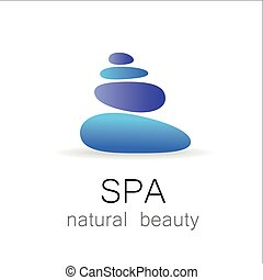 spa, natürliche schönheit, schablone, logo