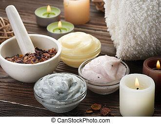 spa, naturel, produits de beauté