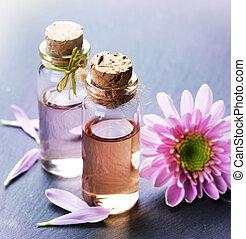 spa, oil., wesentlich, aromatherapy