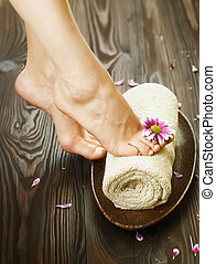 Spa Or Pedicure Concept