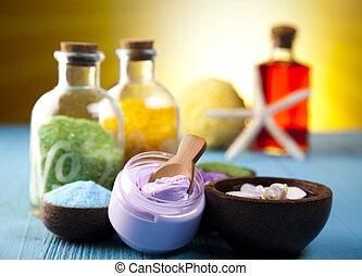Spa, organic products - Natural bath salt, organic products,...