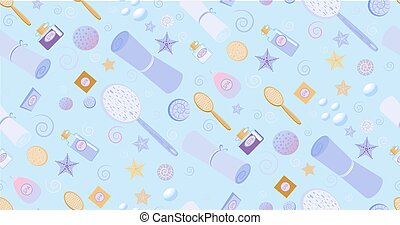 Spa pattern violet seamless background