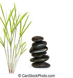 Spa Pebbles and Bamboo
