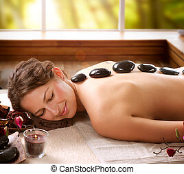 spa, pedra, salon., dayspa, massage.