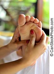 spa, pied, traitement