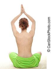 Spa - Portrait of beautiful woman before spa treatment....