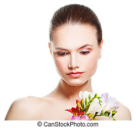 Spa Portrait of Beautiful Woman Isolated