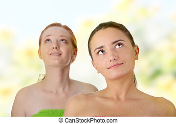 Spa - portrait of two woman