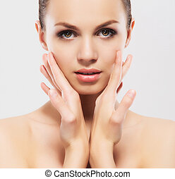 Spa portrait of young beautiful woman