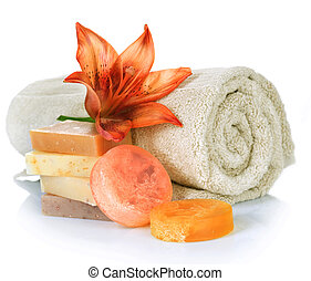 spa, products., fait main, savon