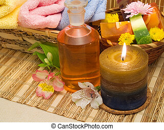 Spa Products - soaps, candles, aromatic oils and flowers