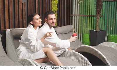 Spa program for couples. Romantic date for amorose in spa...