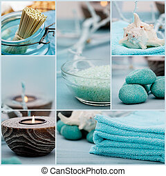 Spa purity collage - Spa collage series. Spa collage made of...