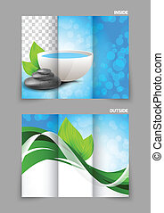 Spa salon beauty tri-fold brochure