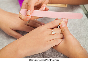 spa, salon., manicure.