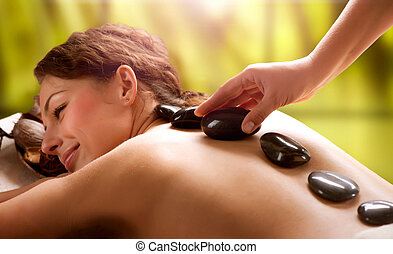 Spa Salon. Stone Massage. Dayspa