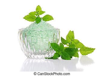 Spa Salt with Fresh Herbs
