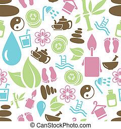 spa seamless pattern